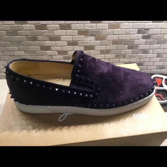 sports shoes 579fe 46047 Men's Christian louboutin PikBoat Flat Veau Velour